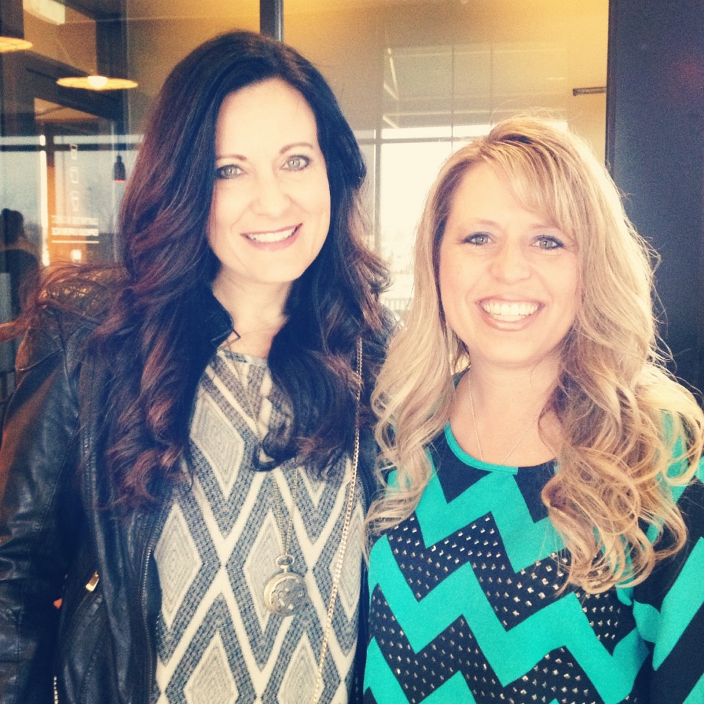 Lysa Terkeurst and me at Starbucks.