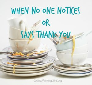 When No One Notices or Says Thank You {Matthew 20}