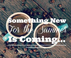 Something New For the Summer Is Coming…