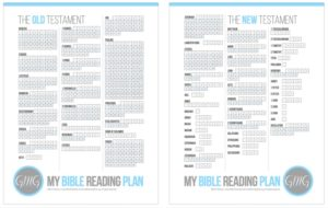 My Bible Reading Plan