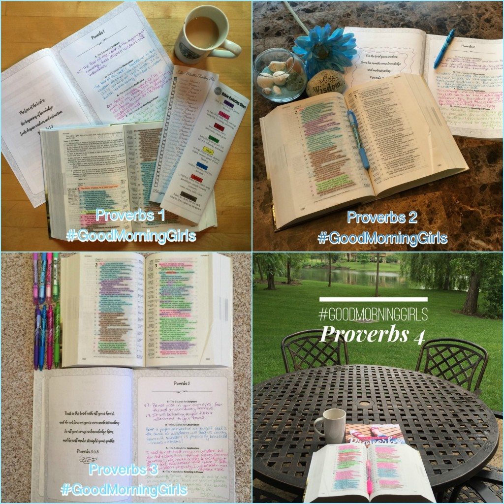 Proverbs 1-4 collage