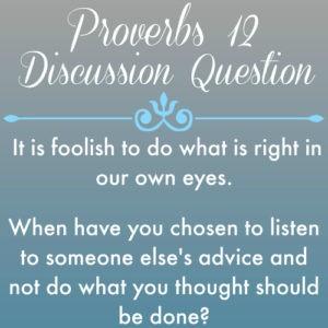Proverbs12