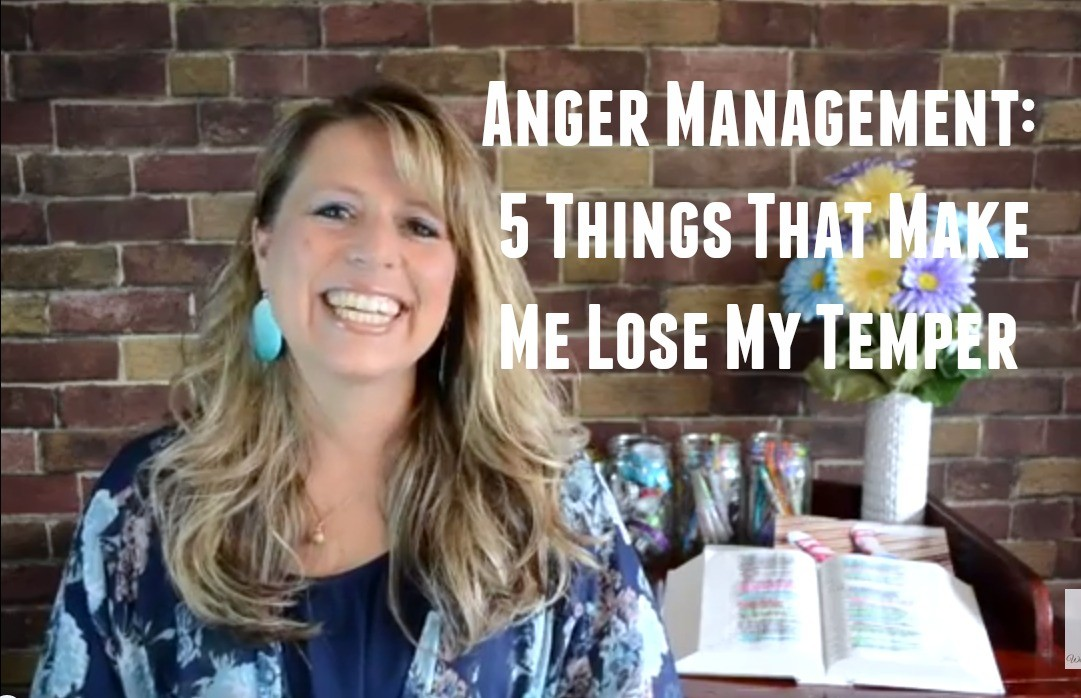 Sometimes it is very hard to manage our anger. Here are five things that make me lose my temper and how I learn to keep it under control.  #Biblestudy #Proverbs #WomensBibleStudy #GoodMorningGirls