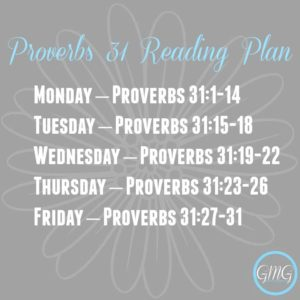 Proverbs 31 Bible Reading Plan