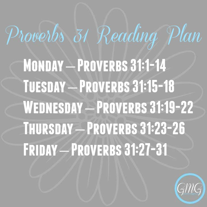 Proverbs 31 Bible Reading Plan
