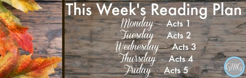 This Week's Bible Reading Plan