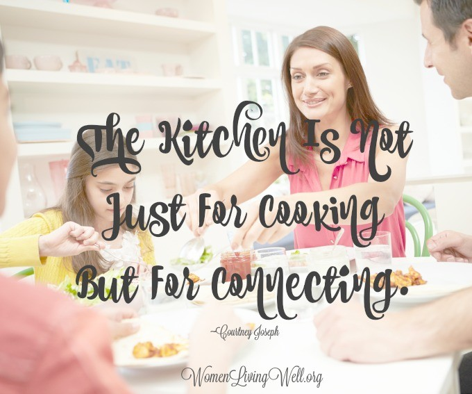 When making our home a haven, we find that the kitchen is not just for cooking, but connecting, too. Grab these conversation starters to help you connect. #WomenLivingWell #homemaking #conversationstarters #makingyourhomeahaven