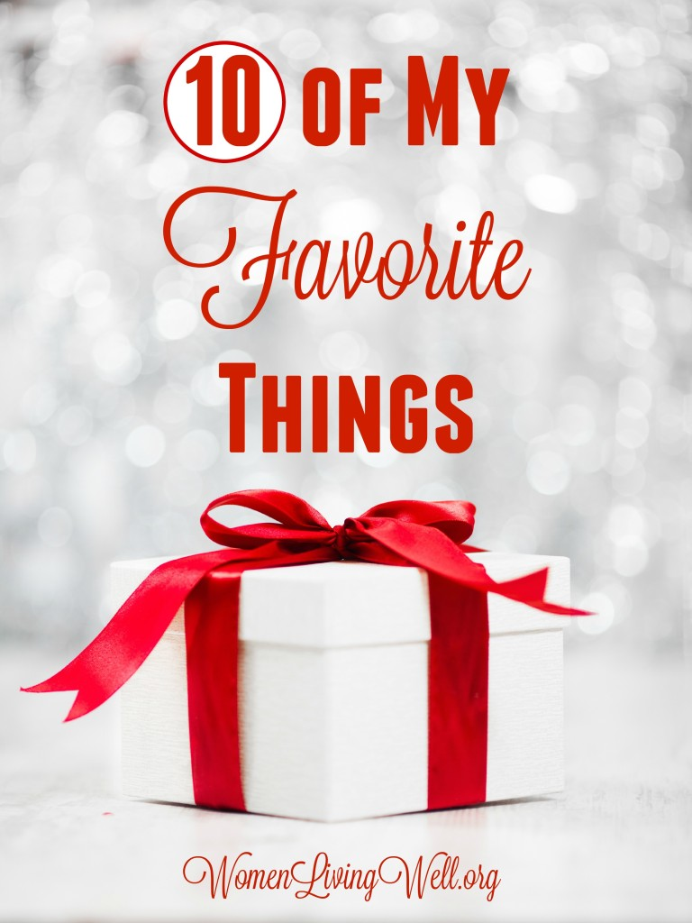 Most of my favorite things are things you can't buy; they are about family and home. But, here are 10 of my favorite things to buy a loved one in your life. #WomenLivingWell #Giftguide #bibles #cosmetics #macbookw