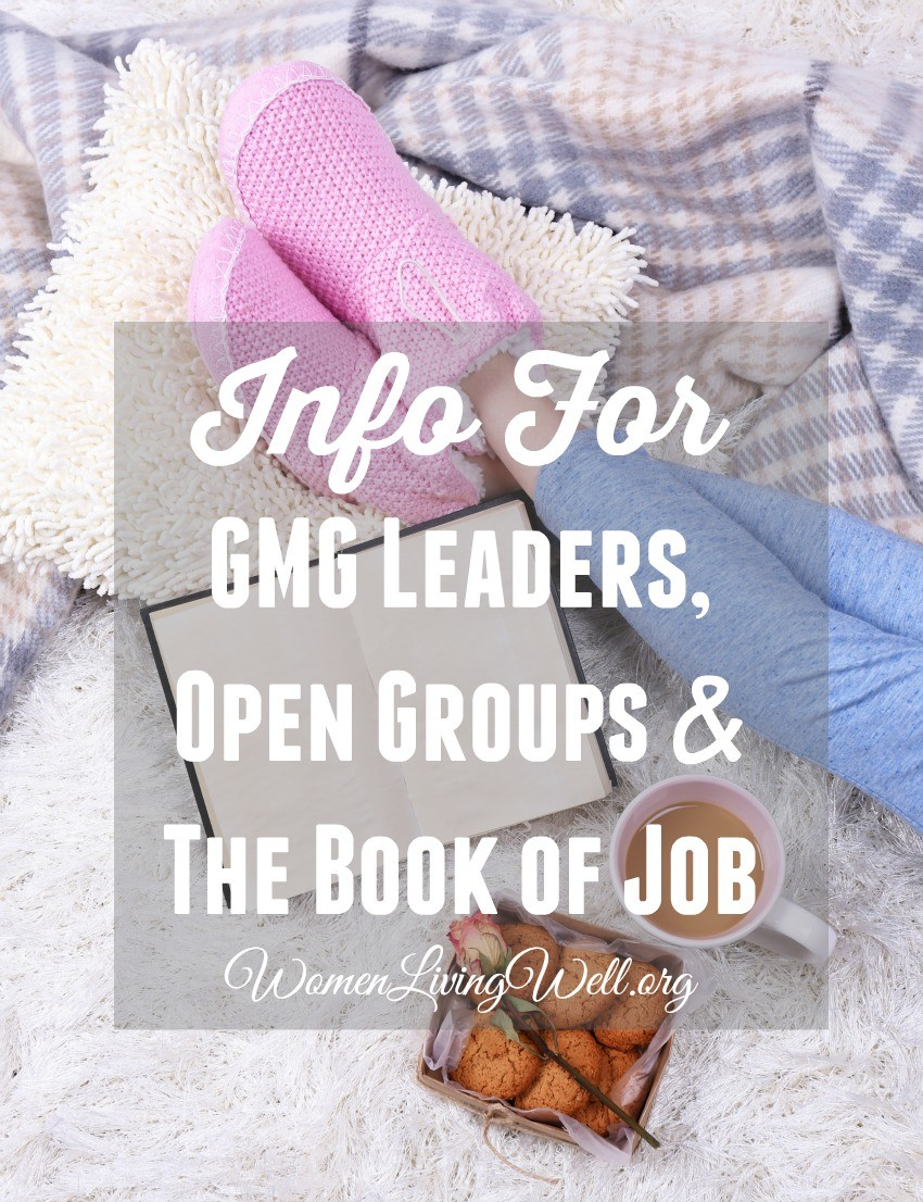 Info for GMG Leaders, Open Groups & The Book of Job