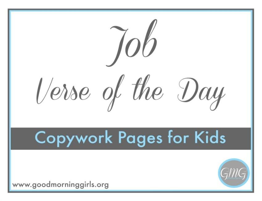Job VOTD Copywork