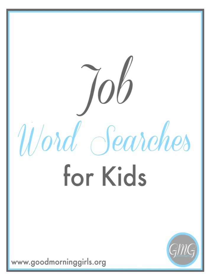 Job Word Searches for Kids