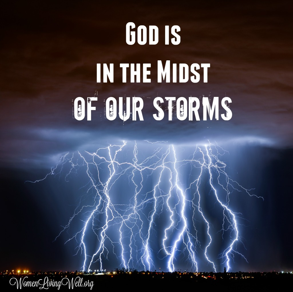 Sometimes the lightening strikes, the thunder trembles, and bad things happen. Where is God in the midst of our storms? He is still God. #Biblestudy #Job #WomensBibleStudy #GoodMorningGirls