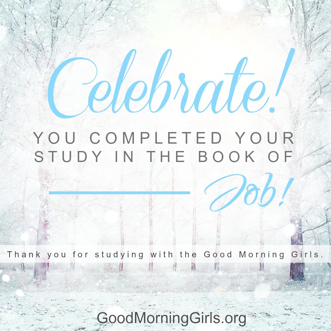 10 lessons from the book of job the conclusion women living well celebrate you completed your study in the book of job falaconquin