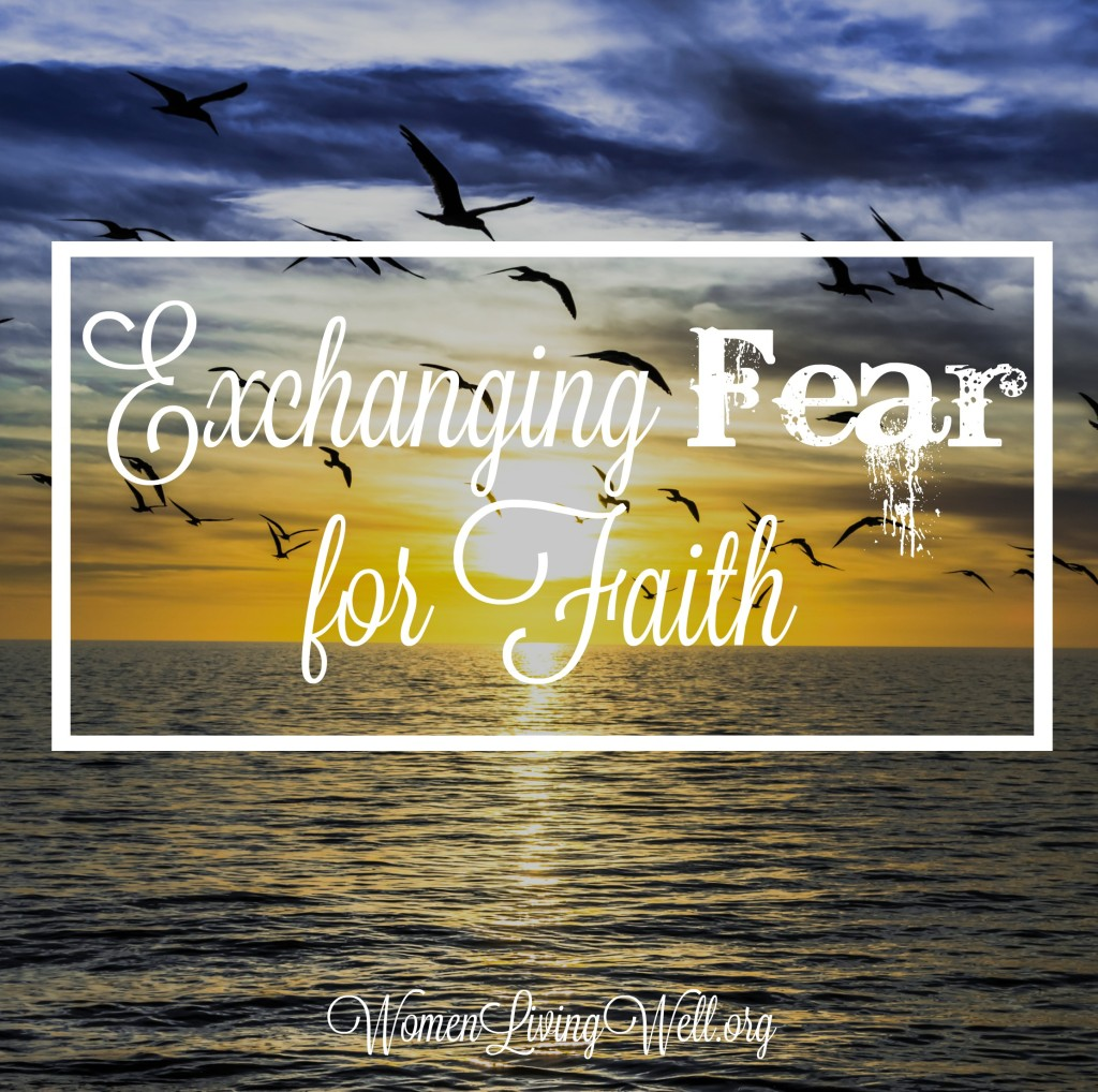 When night falls and all is silent and our heart begins to fill with fear, here is what we need to know to begin exchanging fear for faith.  #Biblestudy #Mark #WomensBibleStudy #GoodMorningGirls