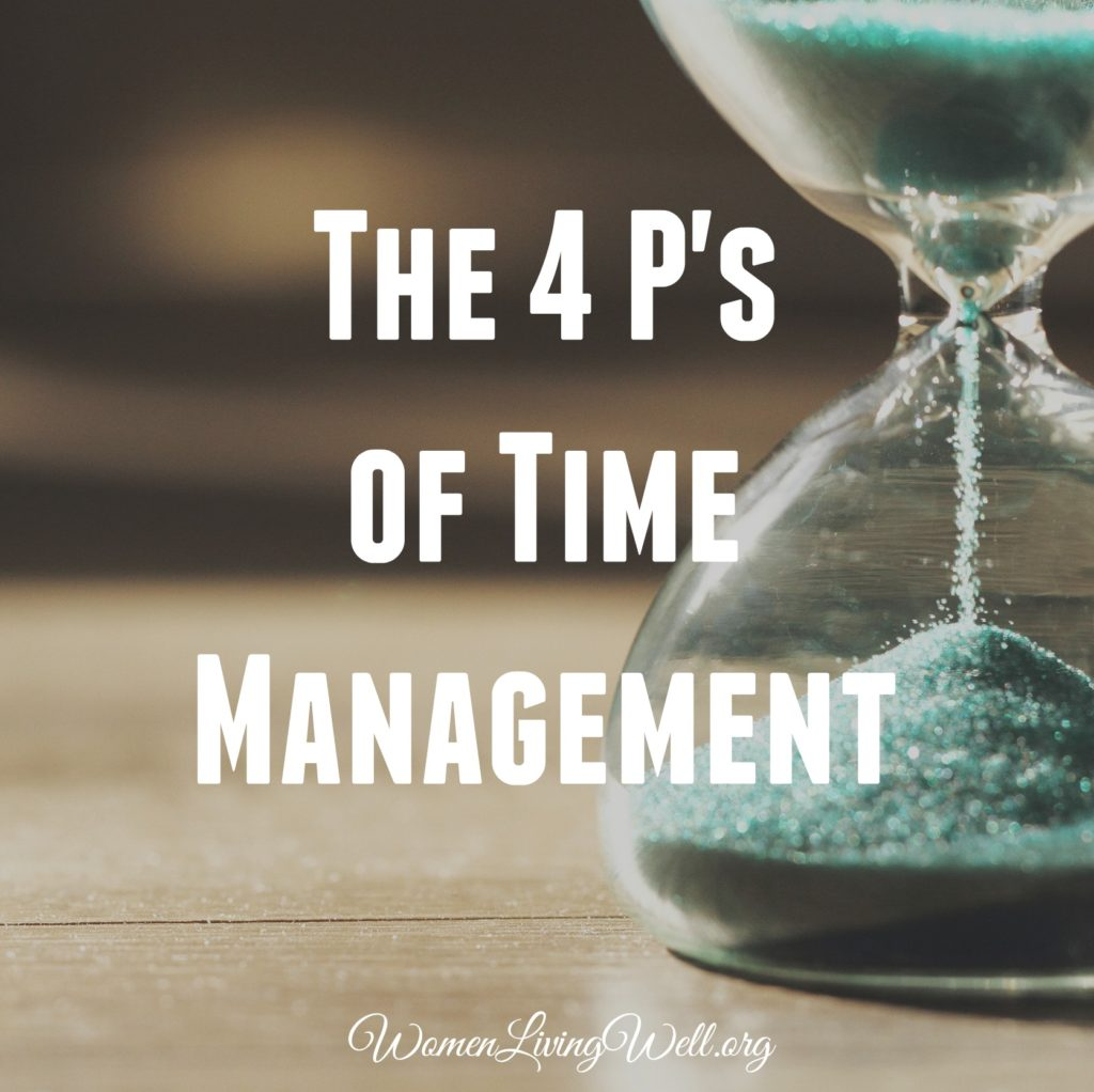 The 4 P's of Time Management