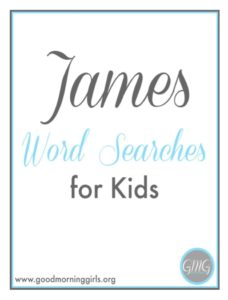 James Word Search for Kids