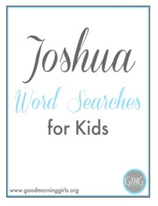 Joshua Word Searches for Kids