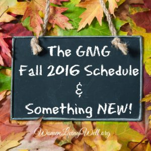 The GMG Fall 2016 Schedule and Something NEW!