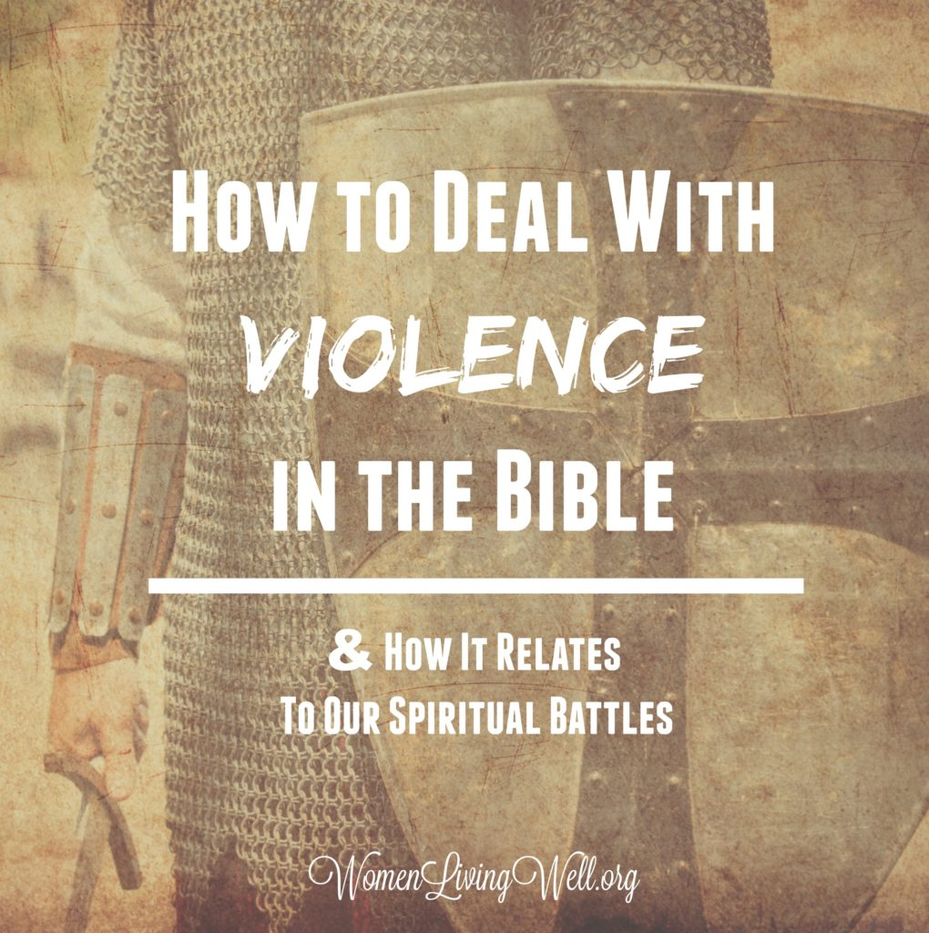 We see a lot of violence and bloodshed in the Old Testament. Does it contradict the New Testament? Here's how to deal with violence in the Bible. #Biblestudy #Joshua #WomensBibleStudy #GoodMorningGirls
