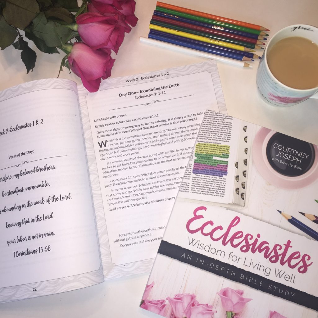 Join Good Morning Girls as we read through the Bible cover to cover one chapter a day. Here are the resources you need to study the book of Ecclesiastes #Biblestudy #Ecclesiastes #WomensBibleStudy #GoodMorningGirls