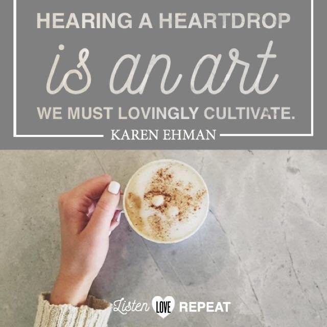 "As women, it is important that we are attentive to those around us; for when we are, we will hear a ""heart drop"" that will give us clues to their needs. #WomenLivingWell #friendship #MakeYourHomeaHaven #homemaking"