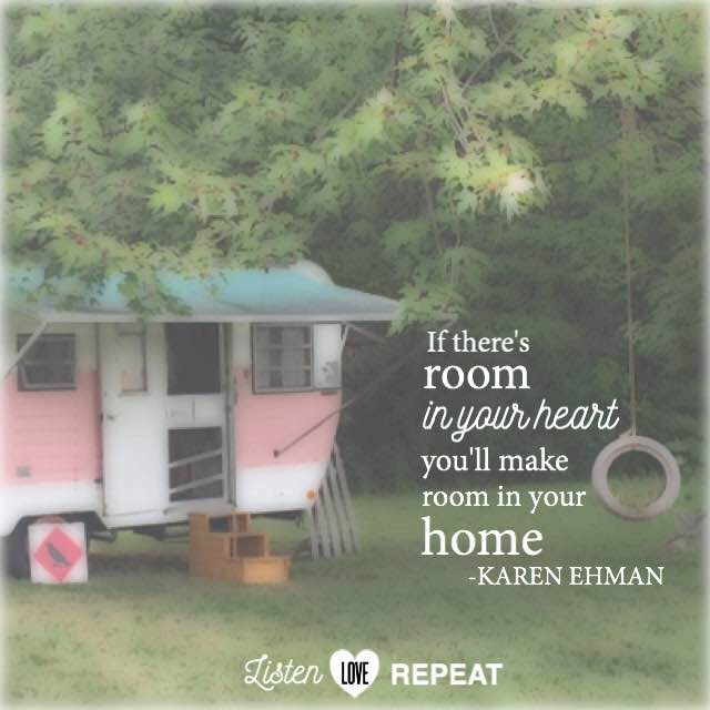 If there's room in your heart, you'll make room in your home. - Karen Ehman #WomenLivingWell #homemaking #friendship #hospitality