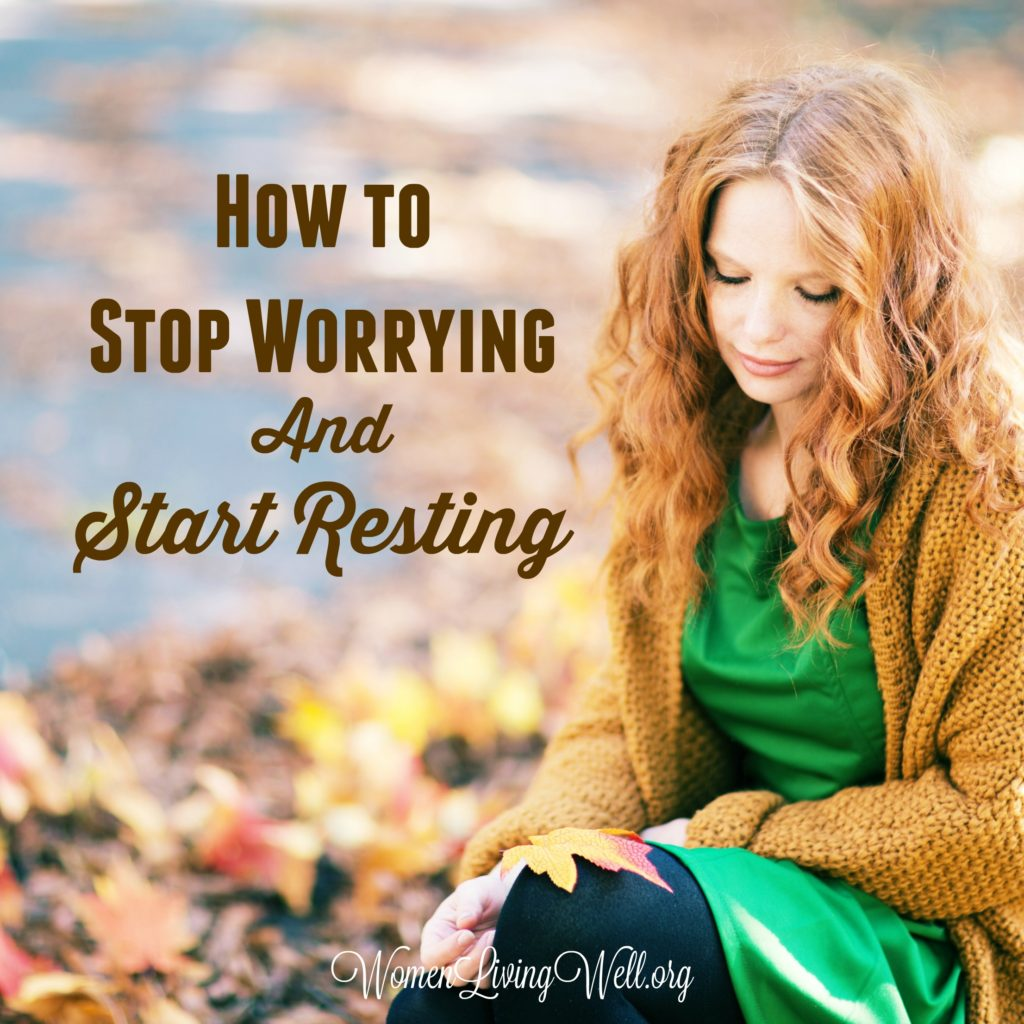 When we are worried and anxious inside, the Bible promises that God will give us rest. Here is how to stop worrying and start resting. #Biblestudy #restandrelease #WomensBibleStudy #GoodMorningGirls