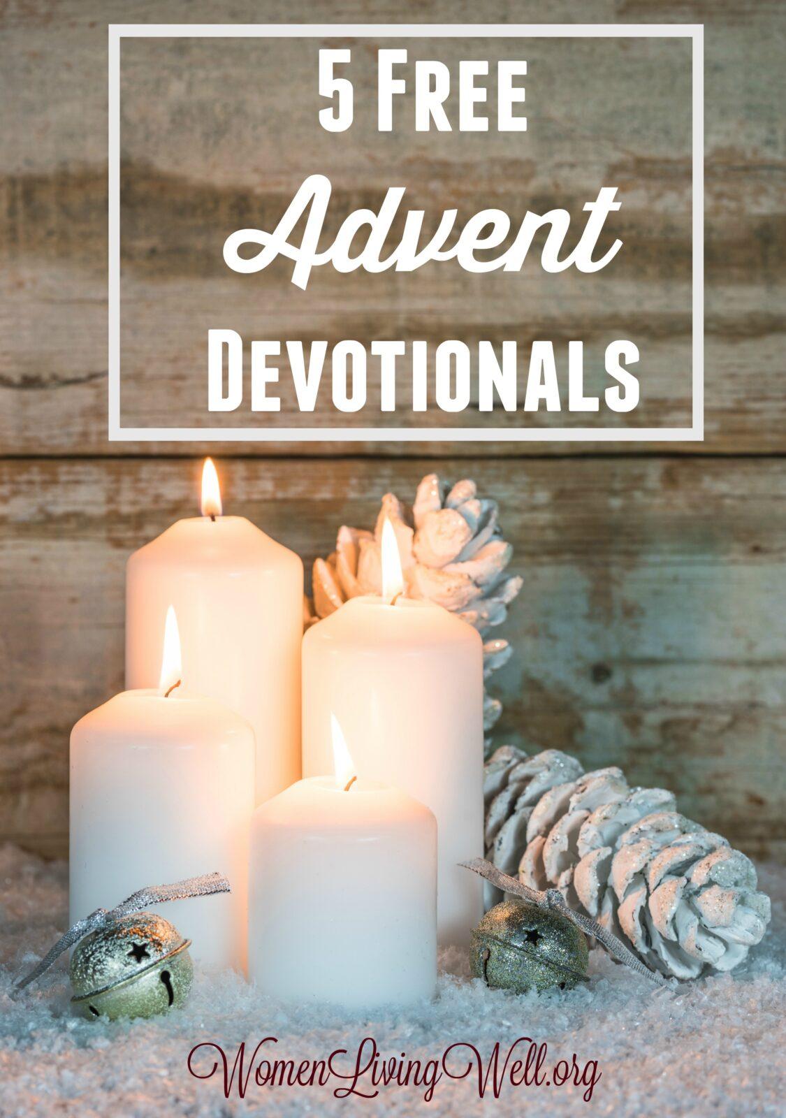 5 free advent devotionals women living well. Black Bedroom Furniture Sets. Home Design Ideas