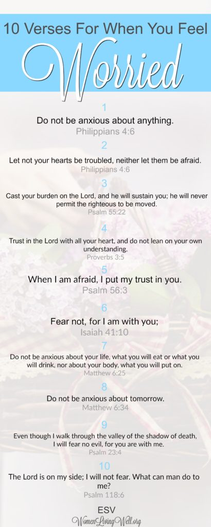 10 Verses for When You Are Worried - Women Living Well