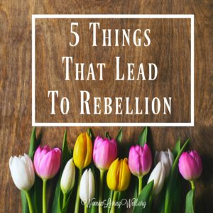 5 Things That Lead to Rebellion