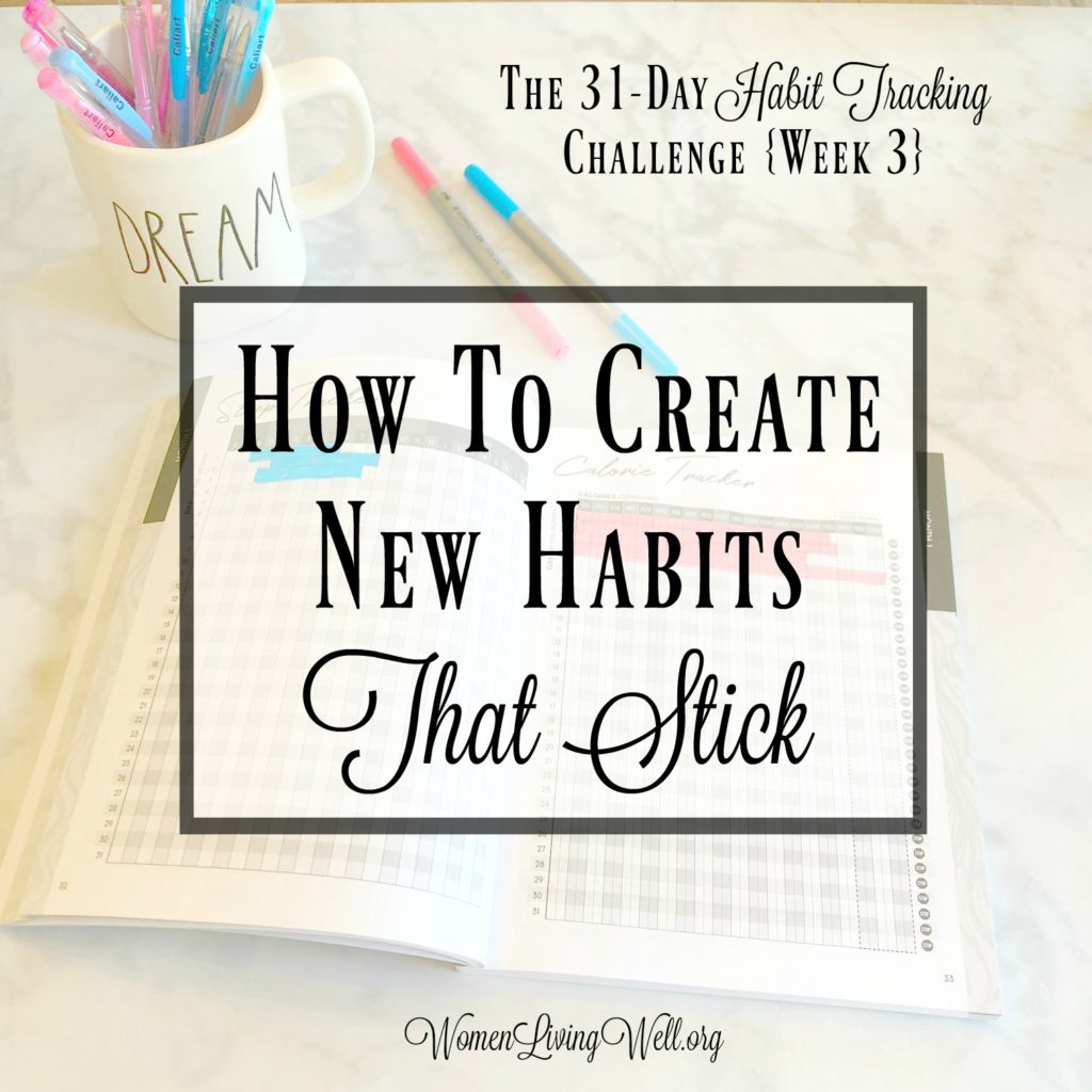 We can make changes in our lives, but the question is will those changes turn into new habits and will those habits stick.  #WomenLivingWell #Habittrackers #bulletjournal