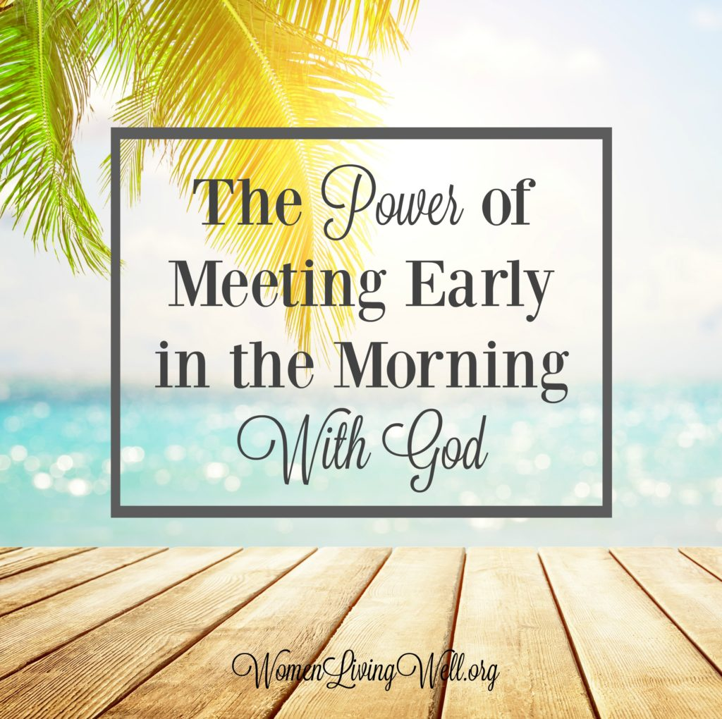 While the Bible doesn't specifically say that quiet times should be in the morning, many times we see the power of meeting early in the morning with God. #Biblestudy #Psalms #WomensBibleStudy #GoodMorningGirls