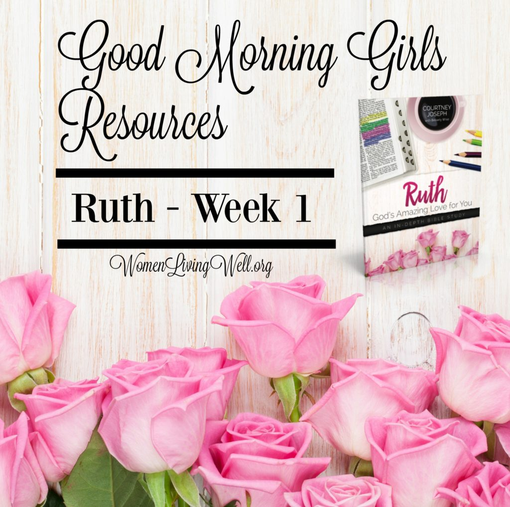 Join Good Morning Girls as we read through the Bible cover to cover one chapter a day. Here are the resources you need to study the book of Ruth. #Biblestudy #John #WomensBibleStudy #GoodMorningGirls