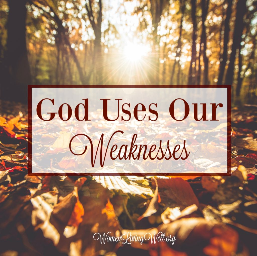 We all have seasons of life when we feel weak and helpless, but these are the seasons when God's strength is made perfect. God uses our weaknesses. #WomenLivingWell #weakness #motherhood #sickness