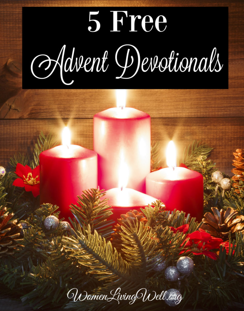 Make this Advent season extra meaningful with these five free Advent devotionals that will focus your heart on the Reason for the season. #Biblestudy #Advent #WomensBibleStudy #Christmas
