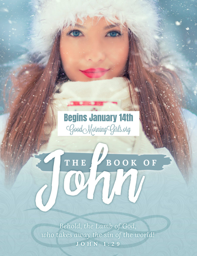 Join Good Morning Girls as we read through the Bible cover to cover one chapter a day. Here are the resources you need to study the book of John. #Biblestudy #John #WomensBibleStudy #GoodMorningGirls