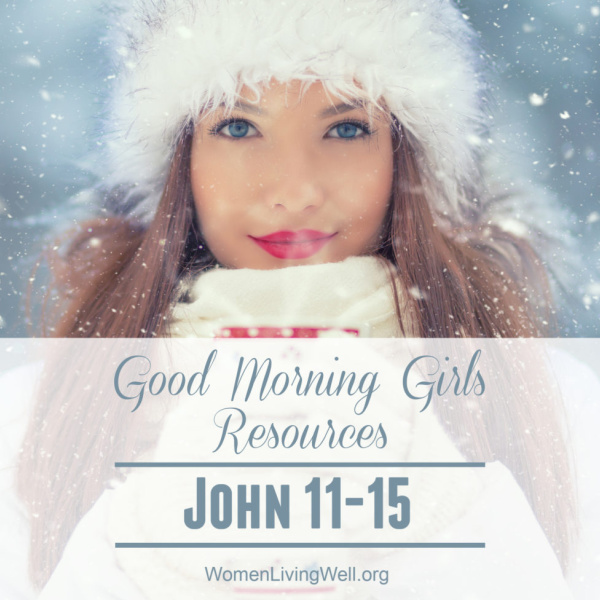 Good Morning Girls Resources {John 11-15}
