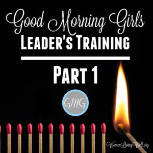 Good Morning Girls Leaders Training