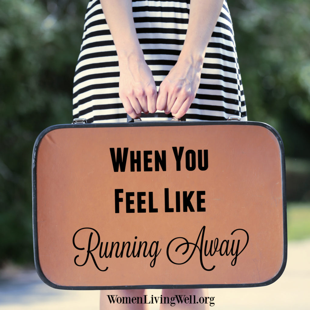 Sometimes we feel exhausted, drained, or just plain stuck in a bad situation that you cannot escape. Here's what to do when you feel like running away.  #Biblestudy #Psalms #WomensBibleStudy #GoodMorningGirls