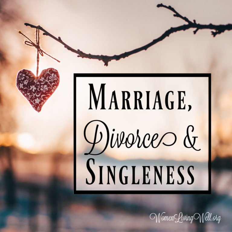 Marriage, Divorce and Singleness