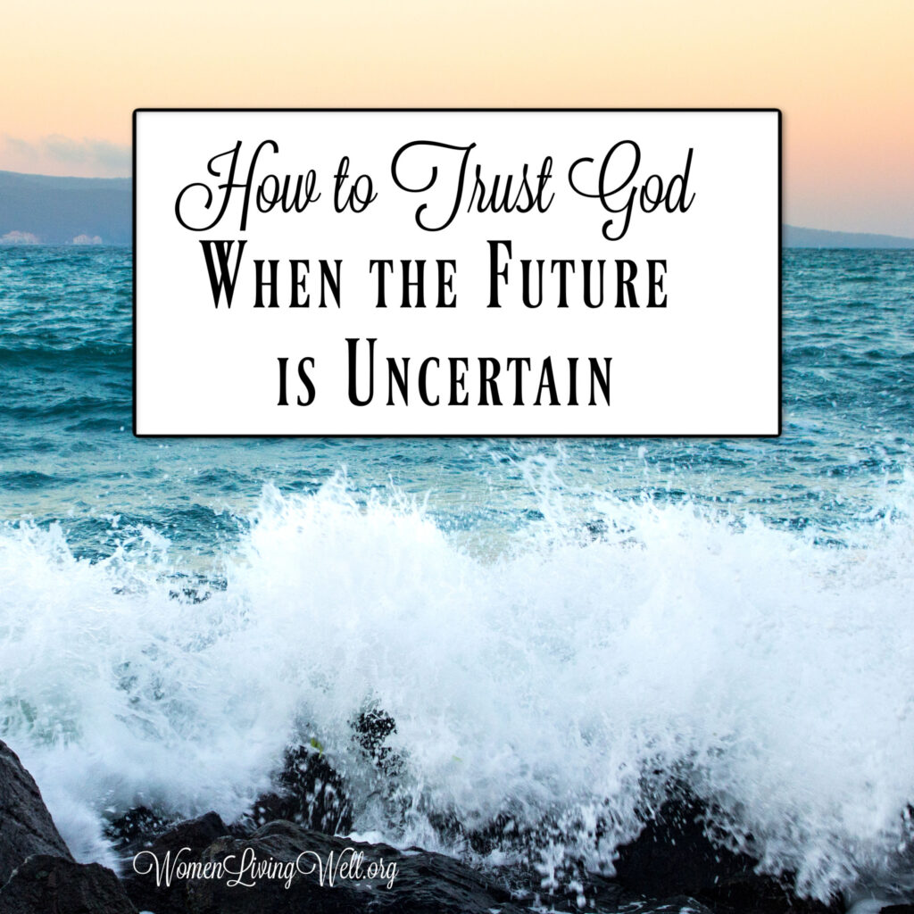 It is easy to trust God when everything is going well, but do you know how to trust God when the future is uncertain? Here is what David teaches us from Psalms. #Biblestudy #Psalms #WomensBibleStudy #GoodMorningGirls