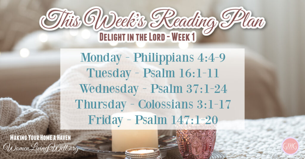 Join me in making our home a haven as we learn to sit at Jesus' feet learning to delight in the Lord as we will fill our home with His warmth and joy. #WomenLivingWell #Biblestudy #WomensBibleStudy #makingyourhomeahaven