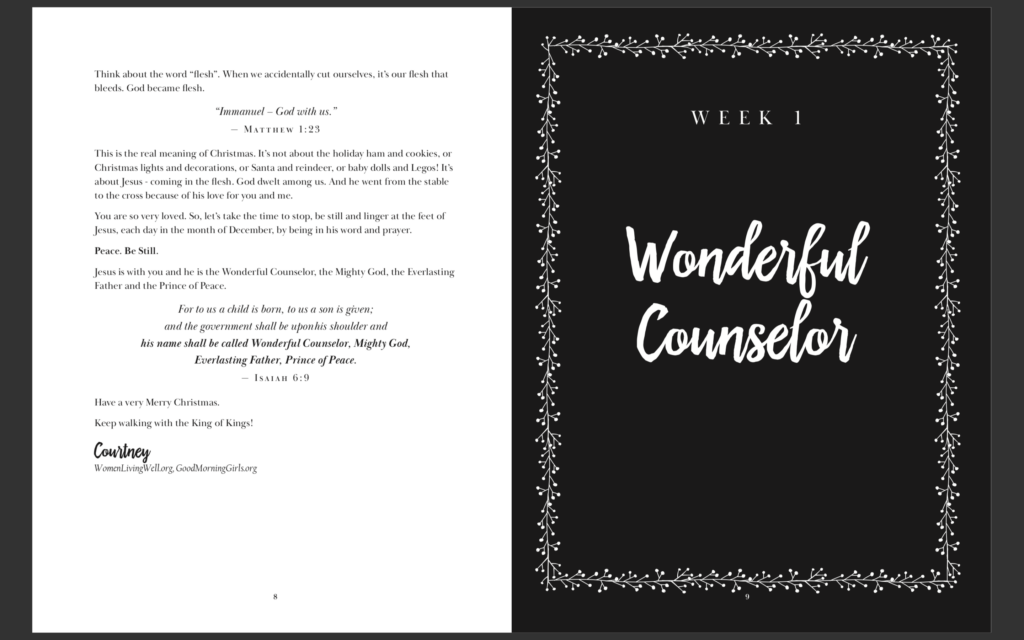 Focus your heart on Jesus this season with this 31-Day Christmas Prayer Journal. Each week offers a devotional and daily reflection for prayer. #WomenLivingWell #GoodMorningGirls #prayerjournal #Christmas