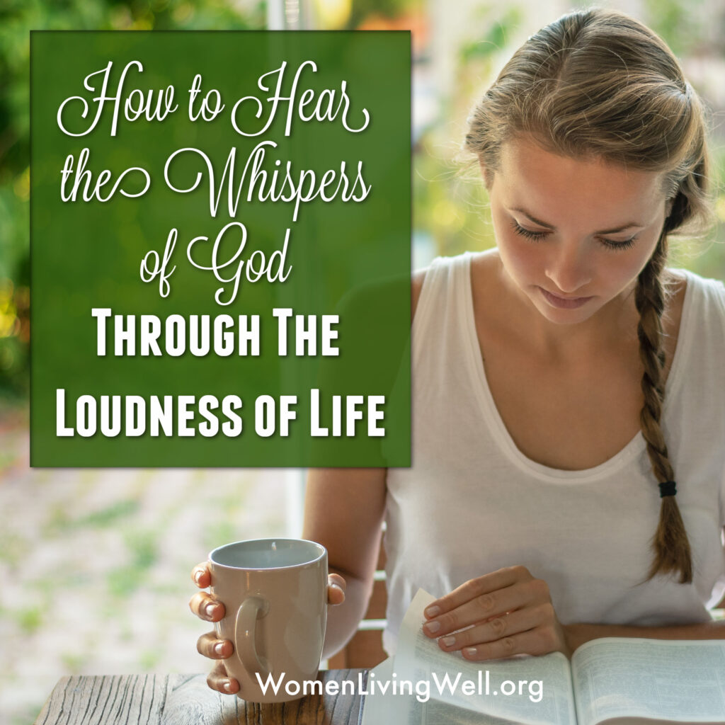 There is significance in learning to be silent so we can hear the whispers of God in the loudness of this life we live. #WomenLivingWell #Courses #WomensBibleStudy #SilencingtheNoise