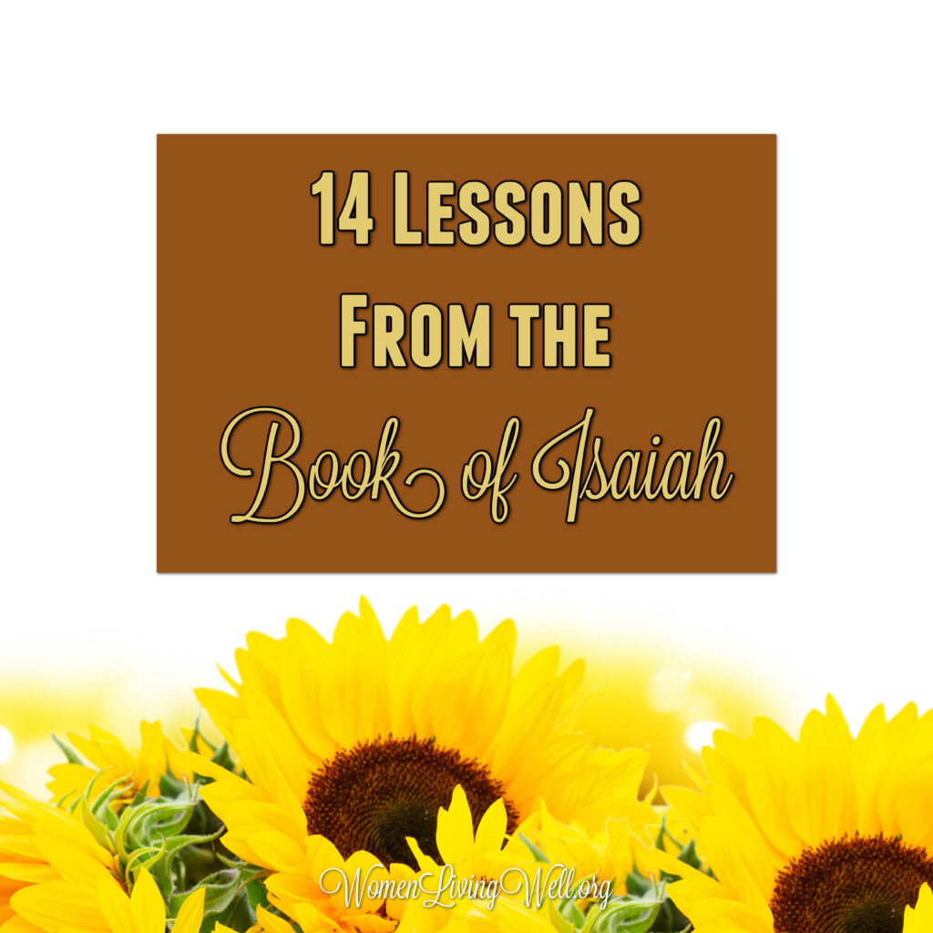 As we look back over our study through our 3-part study through the book of Isaiah, there are 14 lessons we can begin applying to our lives today. #Biblestudy #Isaiah #WomensBibleStudy #GoodMorningGirls