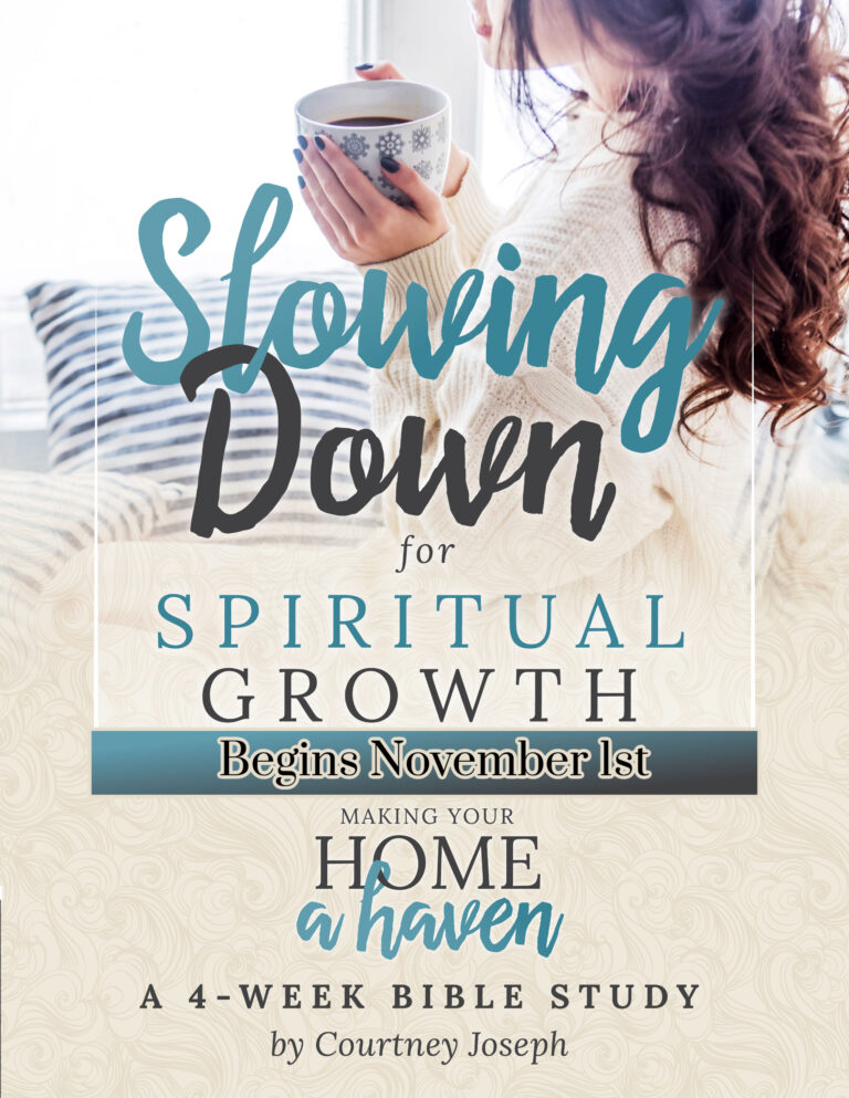 Slowing Down for Spiritual Growth Bible Study Resources
